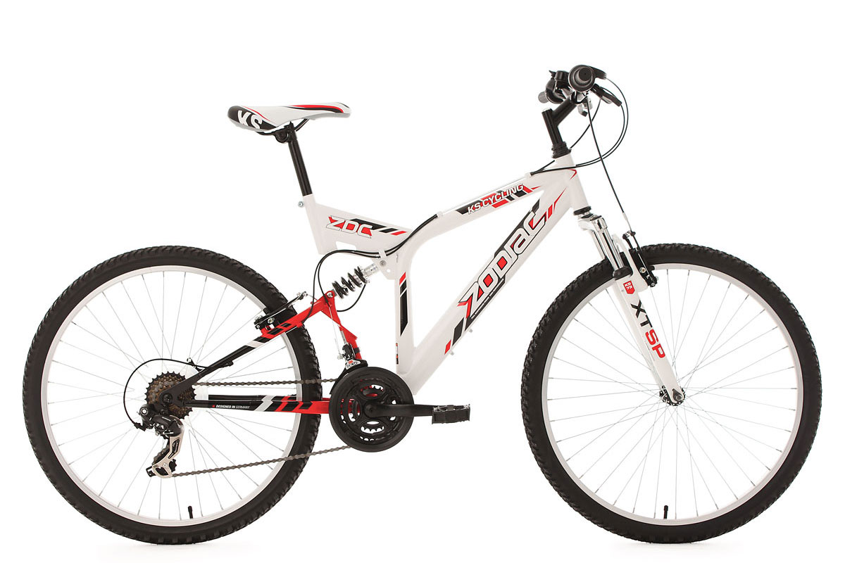 VTT tout suspendu 26'' Zodiac blanc TC 46 cm KS Cycling