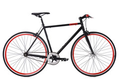 Vélo Fitness 28'' Flip Flop Singlespeed noir rouge KS Cycling
