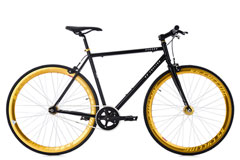 Vélo fitness 28'' Fixie Pegado noir-doré TC 59 cm KS Cycling
