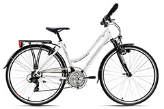 VTC Dame 28'' aluminium Canterburry blanc guidon multiposition KS Cycling