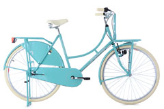 Vélo hollandais 28'' Dame porte-bagages Dutch Classic 3 vitesse menthe TC 54 cm KS Cycling