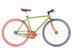 Vélo Fitness 28'' Essence Flip-Flop Singlespeed vert TC 47 cm KS Cycling