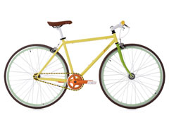 Vélo Fitness 28'' Essence Flip-Flop Singlespeed jaune TC 47 cm KS Cycling