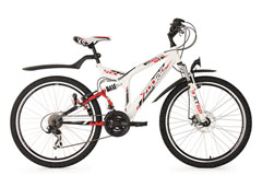 VTT tout suspendu 26'' Zodiac blanc TC 48 cm KS Cycling