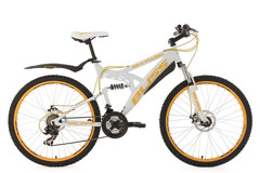 VTT tout suspendu 26'' Bliss blanc TC 47 cm KS Cycling