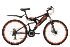 VTT tout suspendu 26'' Bliss noir-orange TC 47 cm KS Cycling