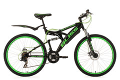 VTT  tout suspendu 26'' BLISS vert TC 47 cm KS Cycling