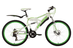 VTT tout suspendu 26'' Bliss blanc-vert TC 47 cm KS Cycling