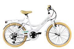 Vélo enfant 20'' Toscana 6 vitesses blanc TC 36 cm KS Cycling