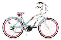 Beachcruiser 26'' Cherry Blossom bleu TC 42 cm KS Cycling