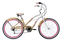 Beachcruiser 26'' Cherry Blossom blanc-doré TC 42 cm KS Cycling