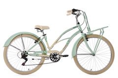 Beachcruiser Cargo 26'' Kahuna vert menthe-beige TC 41 cm KS Cycling