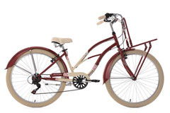Beachcruiser Cargo 26'' Kahuna rouge-beige TC 41 cm KS Cycling