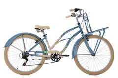 Beachcruiser Cargo 26'' Kahuna bleu-beige TC 41 cm KS Cycling