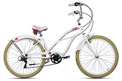 Beachcruiser 26'' Splash blanc TC 44 cm KS Cycling