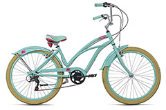 Beachcruiser 26'' Splash vert cadre aluminium TC 44 cm KS Cycling