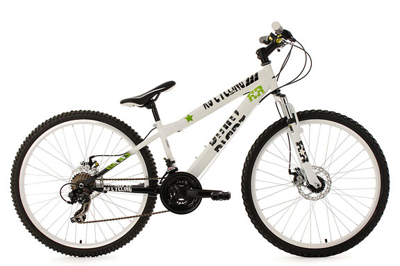 VTT semi rigide 26'' Dirrt blanc TC 34 cm KS Cycling