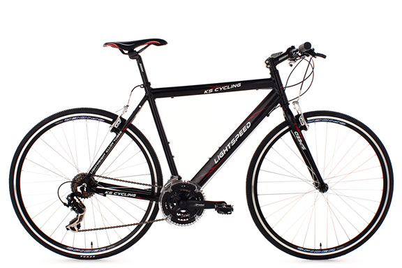 Vélo route alu 28'' Lightspeed noir TC 56 cm KS Cycling