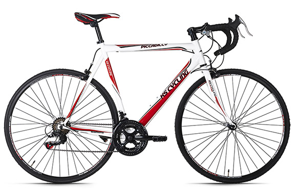 Vélo de course Piccadilly blanc KS Cycling
