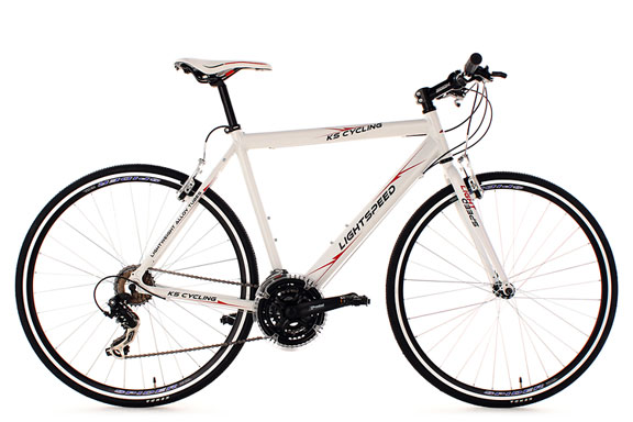 Vélo route alu 28'' Lightspeed blanc TC 56 cm KS Cycling