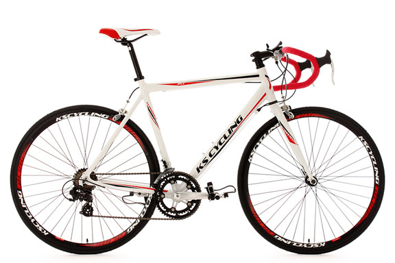 Vélo de course alu 28'' Euphoria blanc TC 53 cm KS Cycling