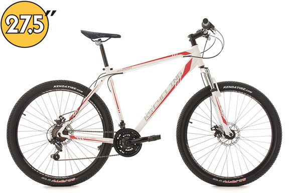 VTT semi-rigide 27,5'' Sharp blanc-rouge TC 51 cm KS Cycling