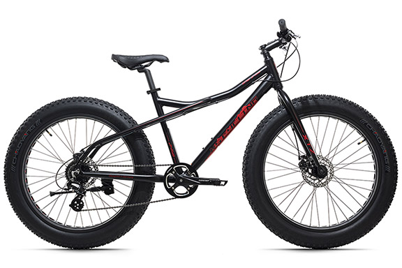 VTT Fatbike 26'' SNW2458 noir TC 46 cm KS Cycling