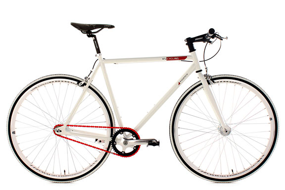 Fixie 28'' Essence blanc TC 56 cm KS Cycling