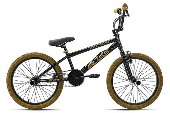 BMX freestyle 20'' Bliss noir-doré KS Cycling